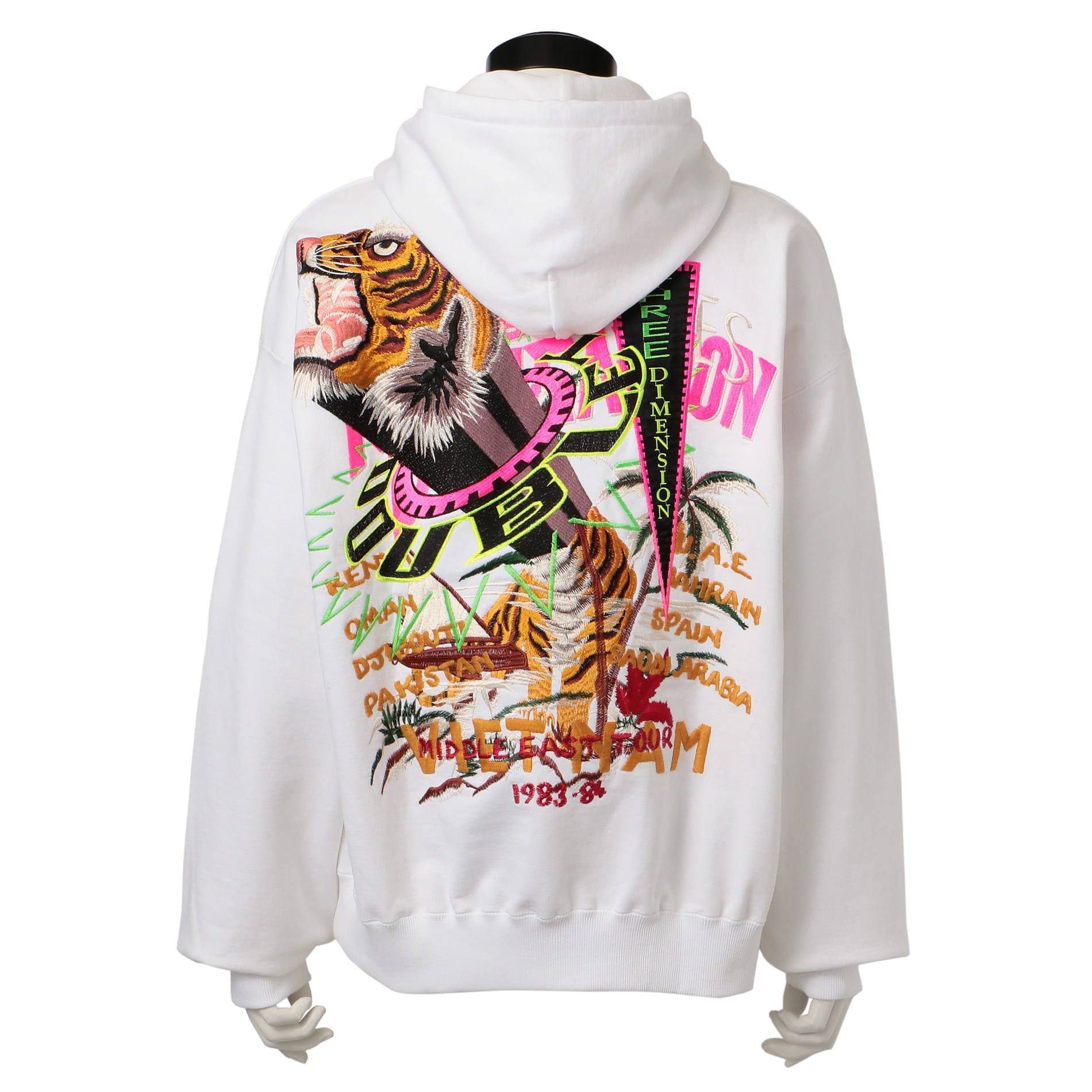【doublet】MEN CHAOS EMBROIDERY HOODIE