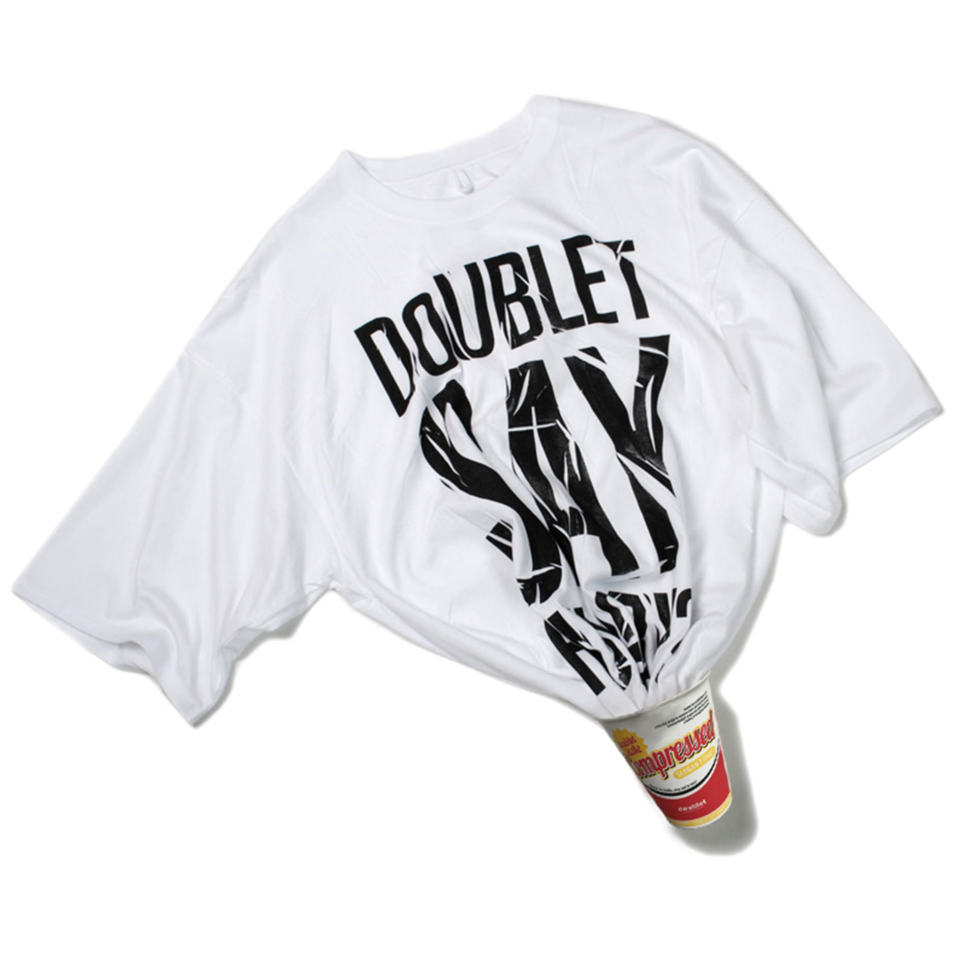 【doublet】MEN COMPRESSED SLOGAN T-SHIRT IN THE INSTANT NOODLE