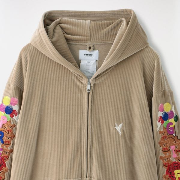 【doublet】MEN CHAOS EMBROIDERY COMFY HOODIE 21SS24BL118