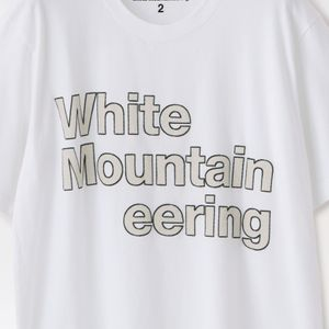 【White Moutaineering】MEN PRINTED T-SHIRT  STITCHED LOGO' WM2071502