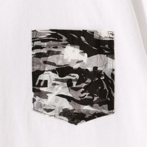 【White Moutaineering】MEN LAYERED CAMO PRINTED POCKET T-SHIRT WM2071519