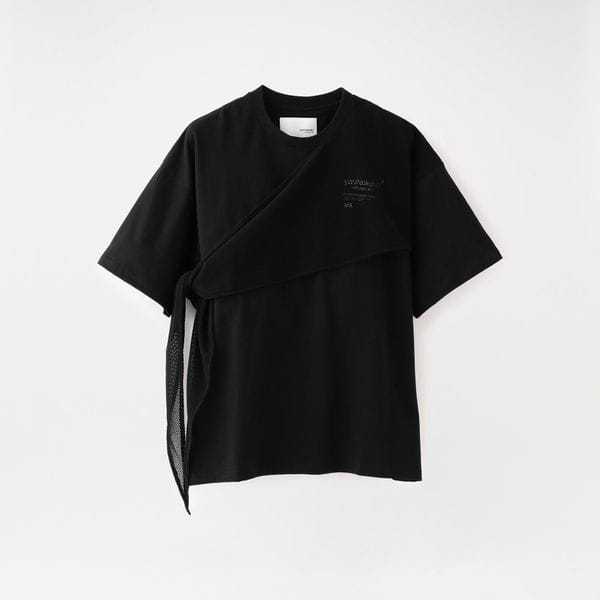 【yoshiokubo GROUNDFLOOR】MEN MESH SCARF T-SHIRTS YKS20108