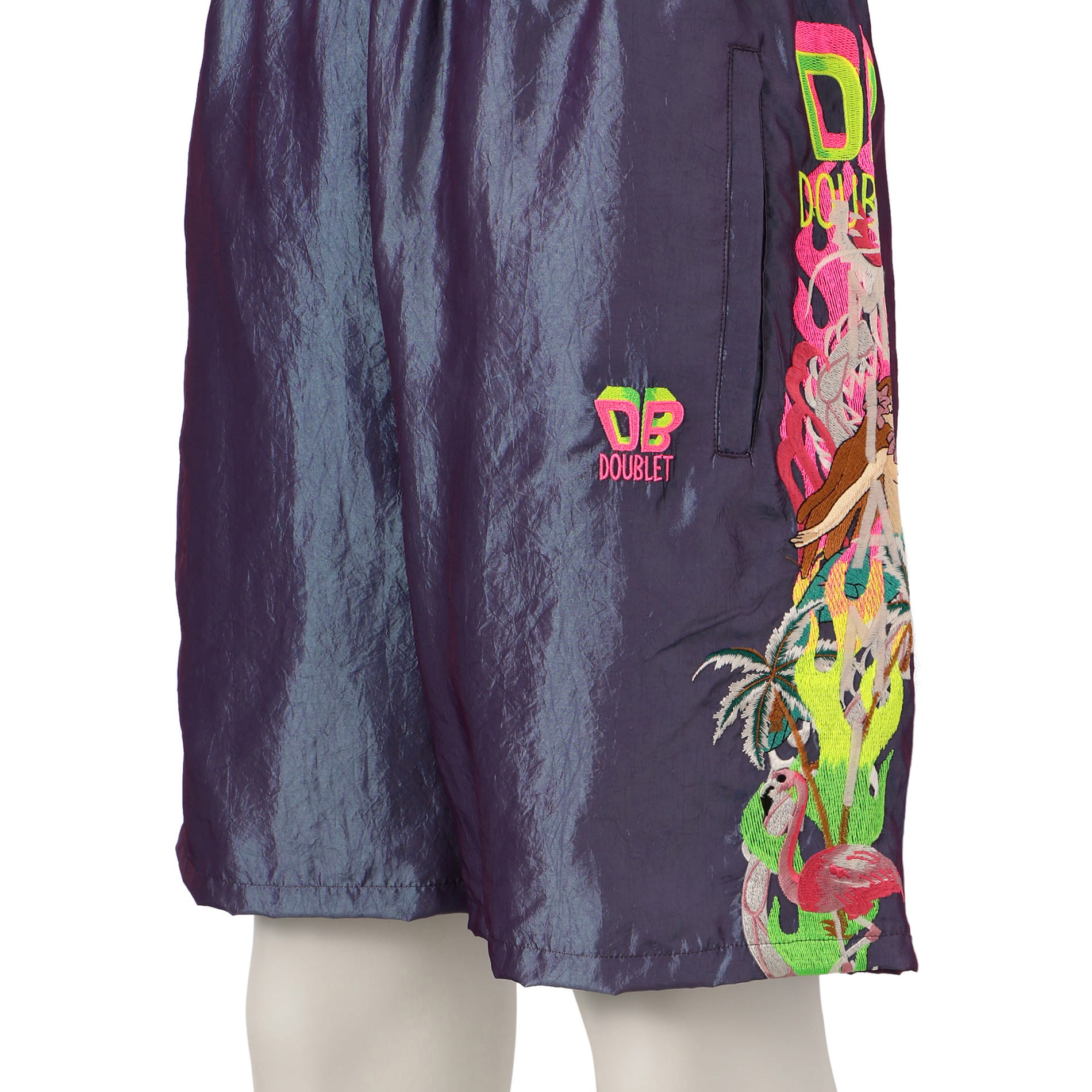 【doublet】MEN CHAOS EMBROIDERY CHAMRAY SHORT PANTS