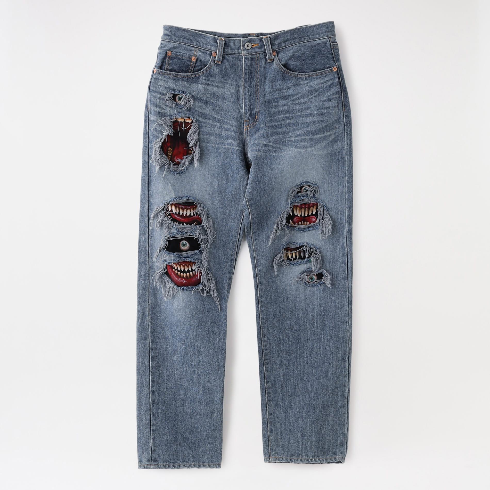 【doublet】MEN デニム RECYCLE DENIM MONSTER REPAIR PANTS 21AW11PT160