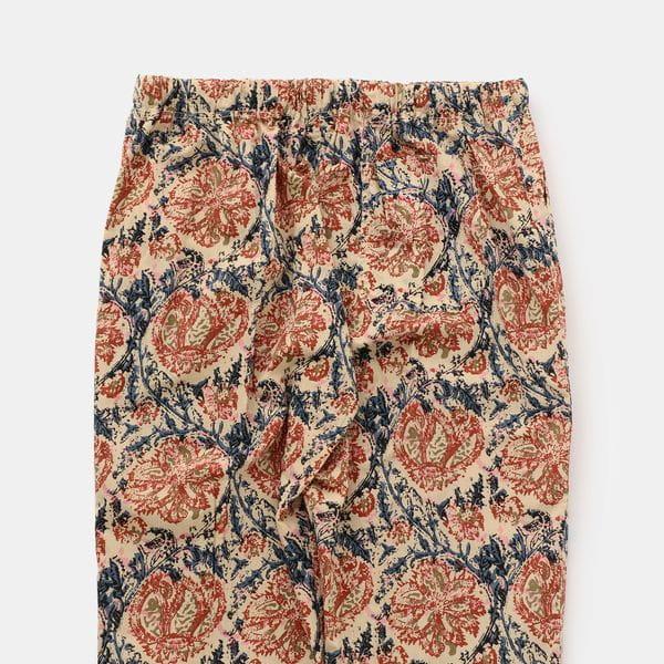 【South2 West8】MEN String Slack Pant - Printed Flannel/Paisley GL828