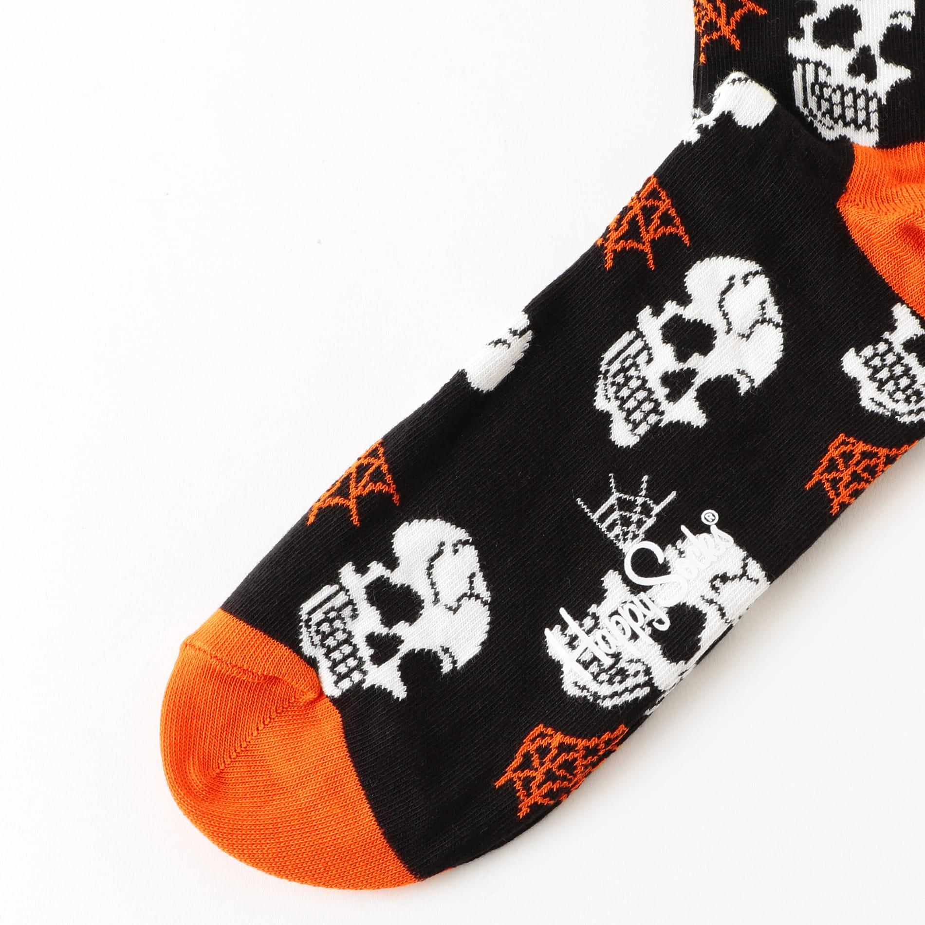 【HappySocks】MEN ソックス Halloween Skull HAL01-9000