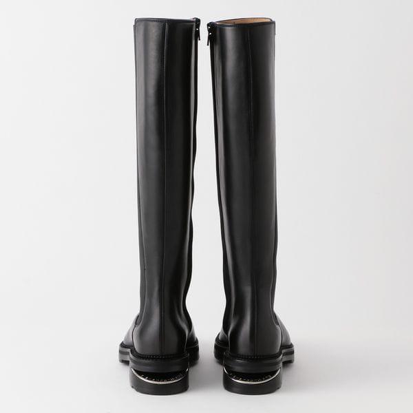 【alexanderwang】WOMEN ANDY RIDING BOOT BLACK CALF W/ZIPPER 30C220B127