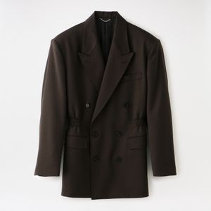 【JOHN LAWRENCE SULLIVAN】WOMEN waist gathered jacket 1d019-0120-02 w-07