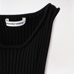 【alexanderwang.t】WOMEN SHRUNKEN RIB TANK DRESS WITH BACK SLIT 4KC1206007