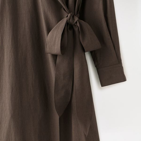【SAYAKA DAVIS】WOMEN WRAP SHIRT DRESS LDR17-COL