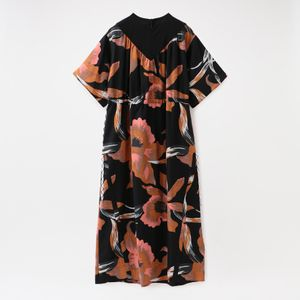 【NOMA t.d.】WOMEN Strings Dress Black Floral of Memories DR01
