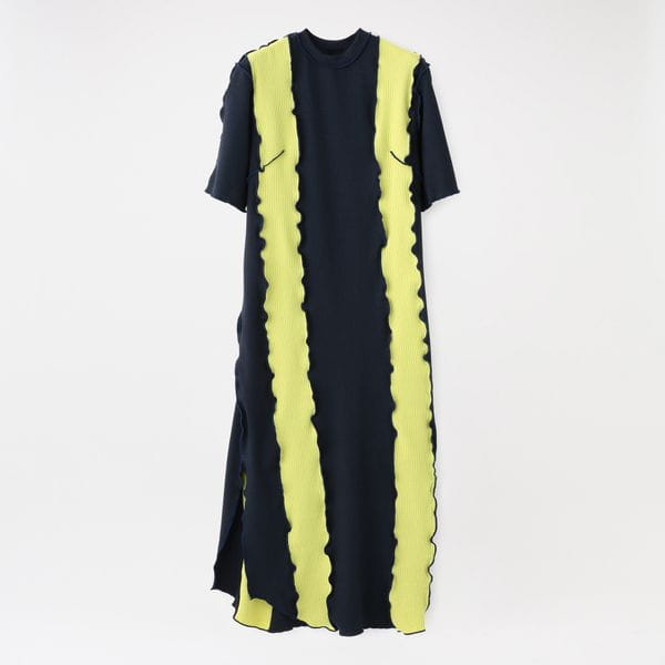 【返品送料無料】【NOMA t.d.】WOMEN RIB STRIPE DRESS OP01