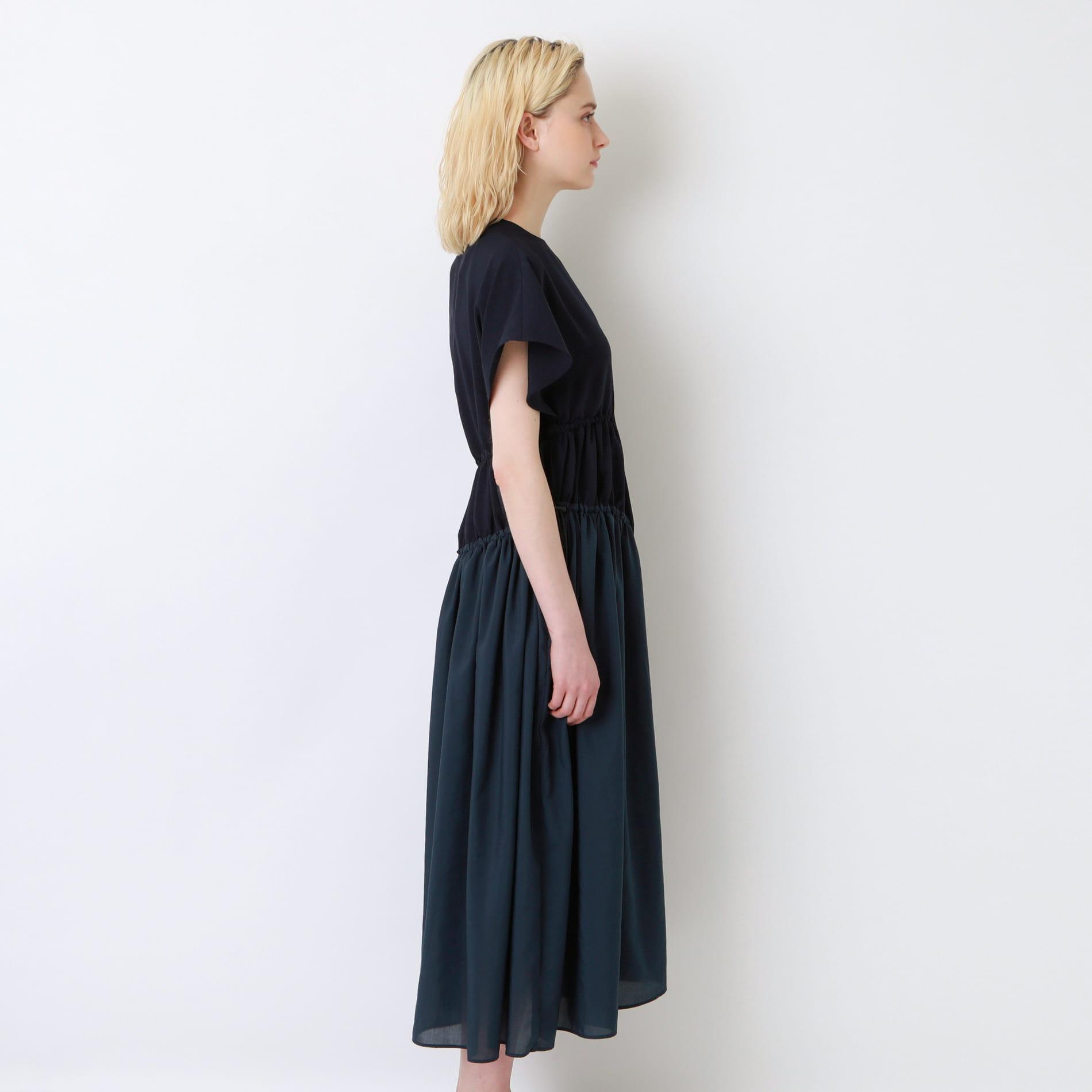 【AVIE】WOMEN 別注 アシンメトリーフレアワンピース 0202-04060