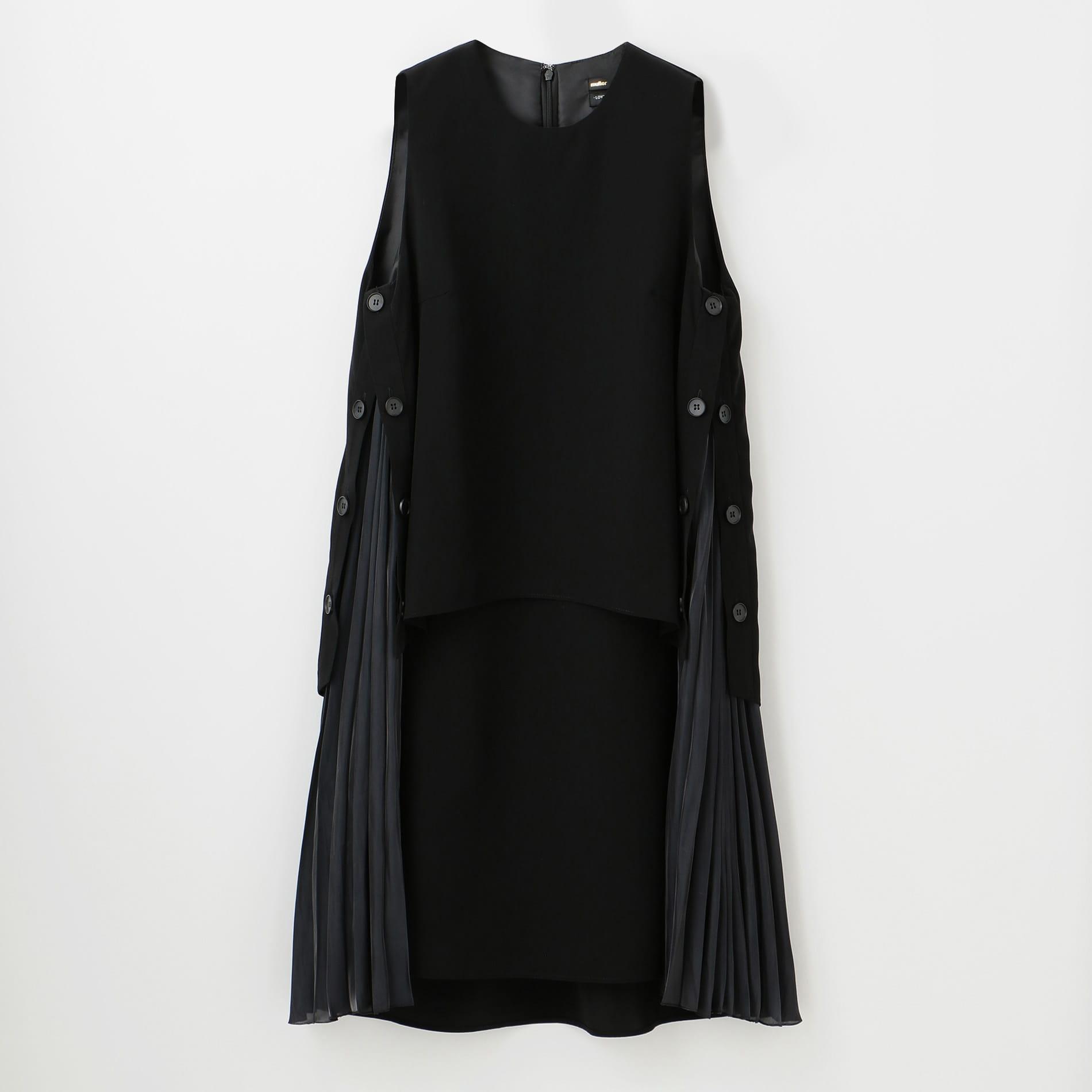 〈タイムセール〉【muller of yoshiokubo】WOMEN 別注サイドプリーツドレス MSL19619SP