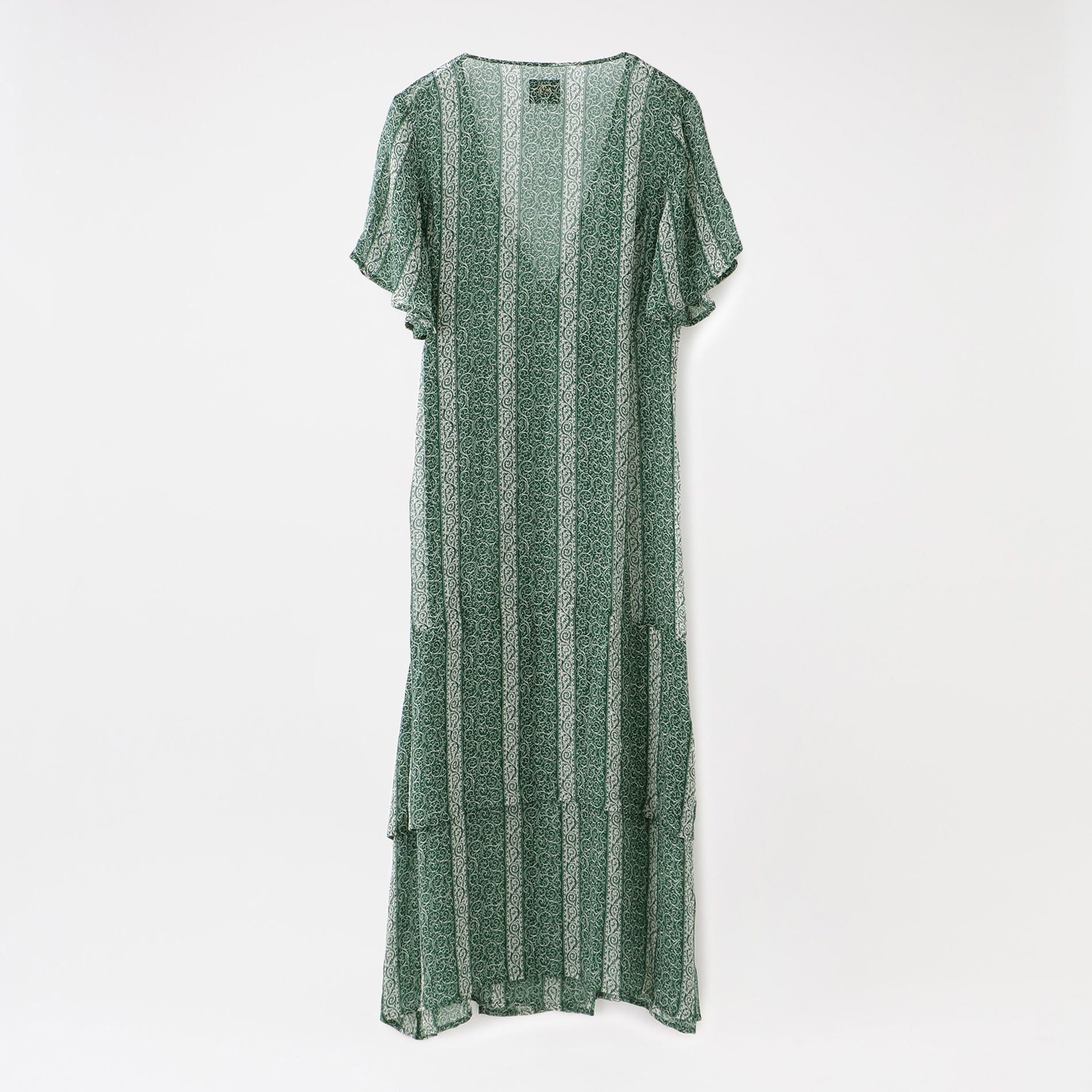 【Needles】WOMEN ワンピース Wrap Dress - Cupra Chiffon / Pt. IN077