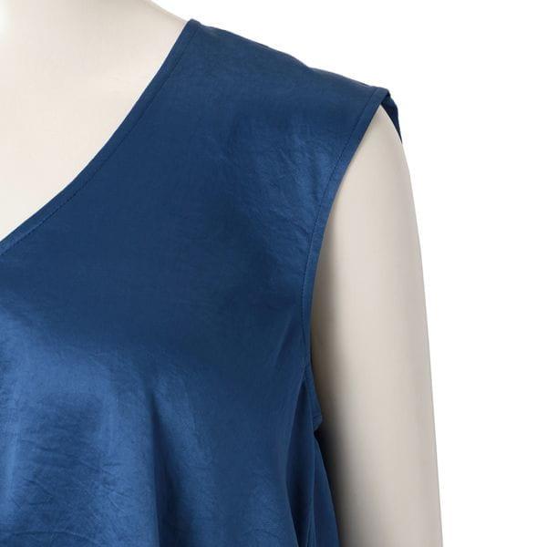 〈タイムセール〉【08sircus】WOMEN ノースリーブシャツ S19SL-TS05