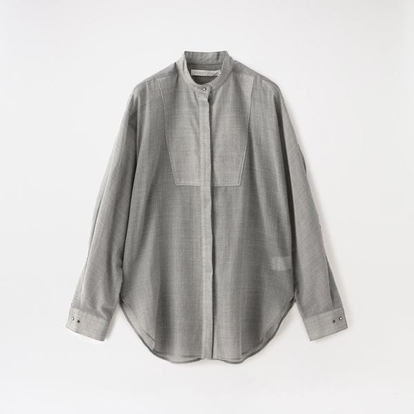 【YOHEI OHNO】WOMEN WOOL VOILE CLERIC SHIRT OH-20A-TP1-A