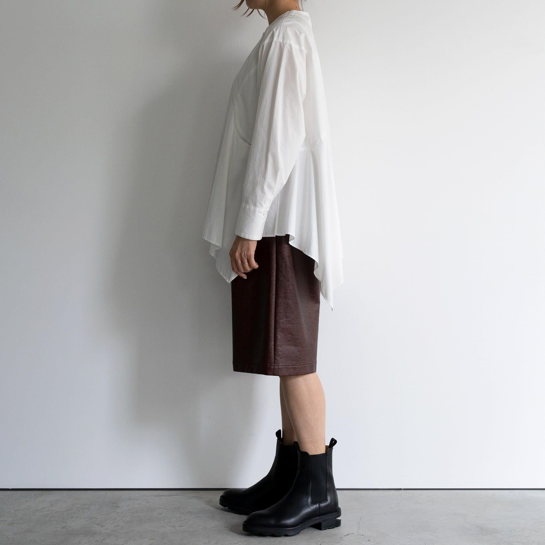 【muller of yoshiokubo】WOMEN BIANCA ZIP BLOUSE MLF20210P