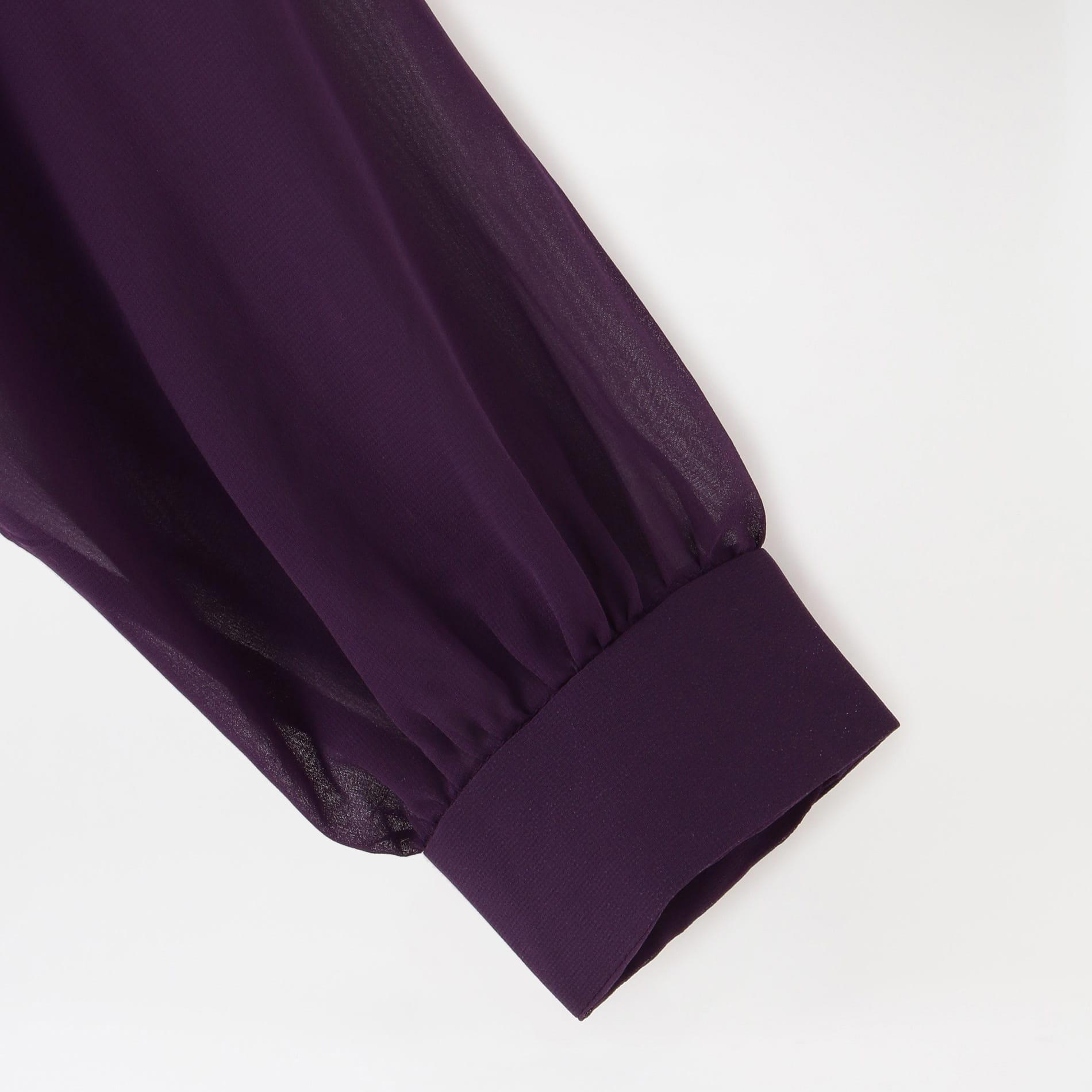 【Needles】WOMEN シャツ Gathered Blouse - Poly Chiffon IN139