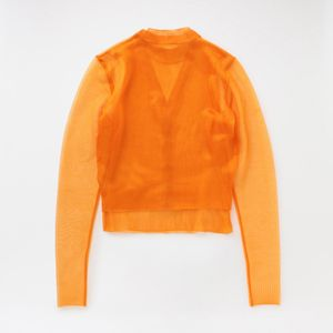 【JOHN LAWRENCE SULLIVAN】WOMEN See-Through laytred Knit Sweater 4C007-0120-43