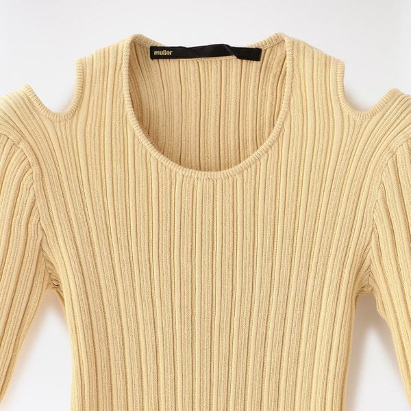 【muller of yoshiokubo】WOMEN Random rib knit top MLS20803