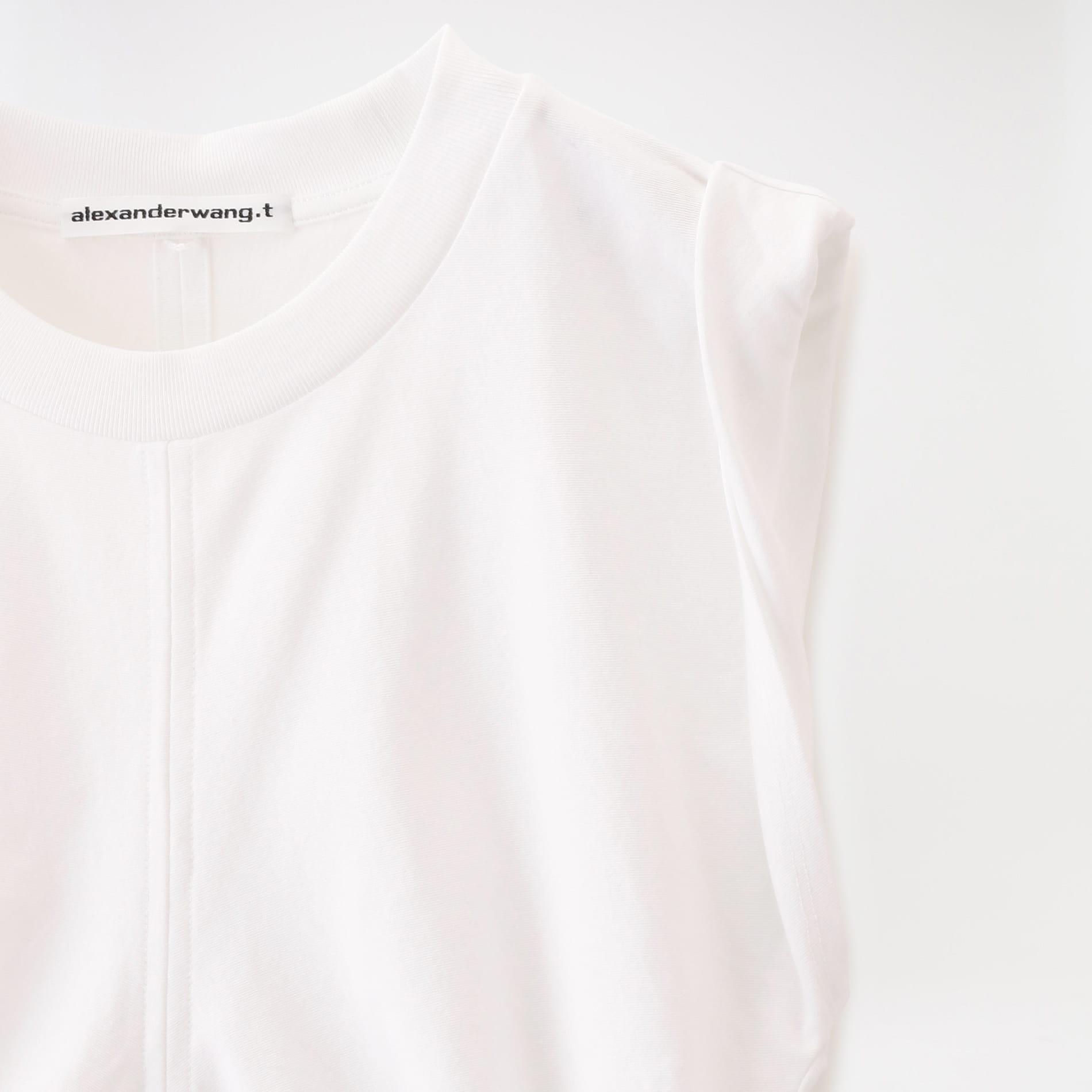 【alexanderwang.t】WOMEN WASH & CO H.TWIST JSY CROP TOP W/ SIDE TIES 4CC2191096