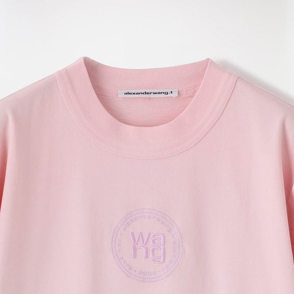 【alexanderwang.t】WOMEN Tシャツ OMBRE LONG TEE W/ EMBROIDERED LOGO CREST 4CC2211184