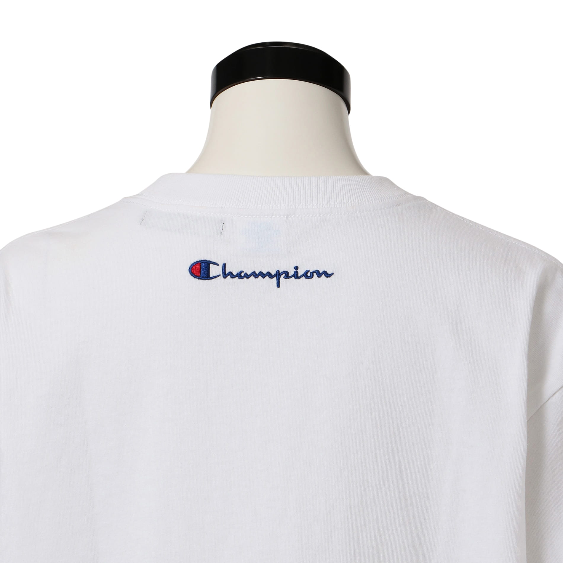 〈タイムセール〉【Champion】WOMEN 別注ビッグシルエットエンブロイダリーポケットTシャツ