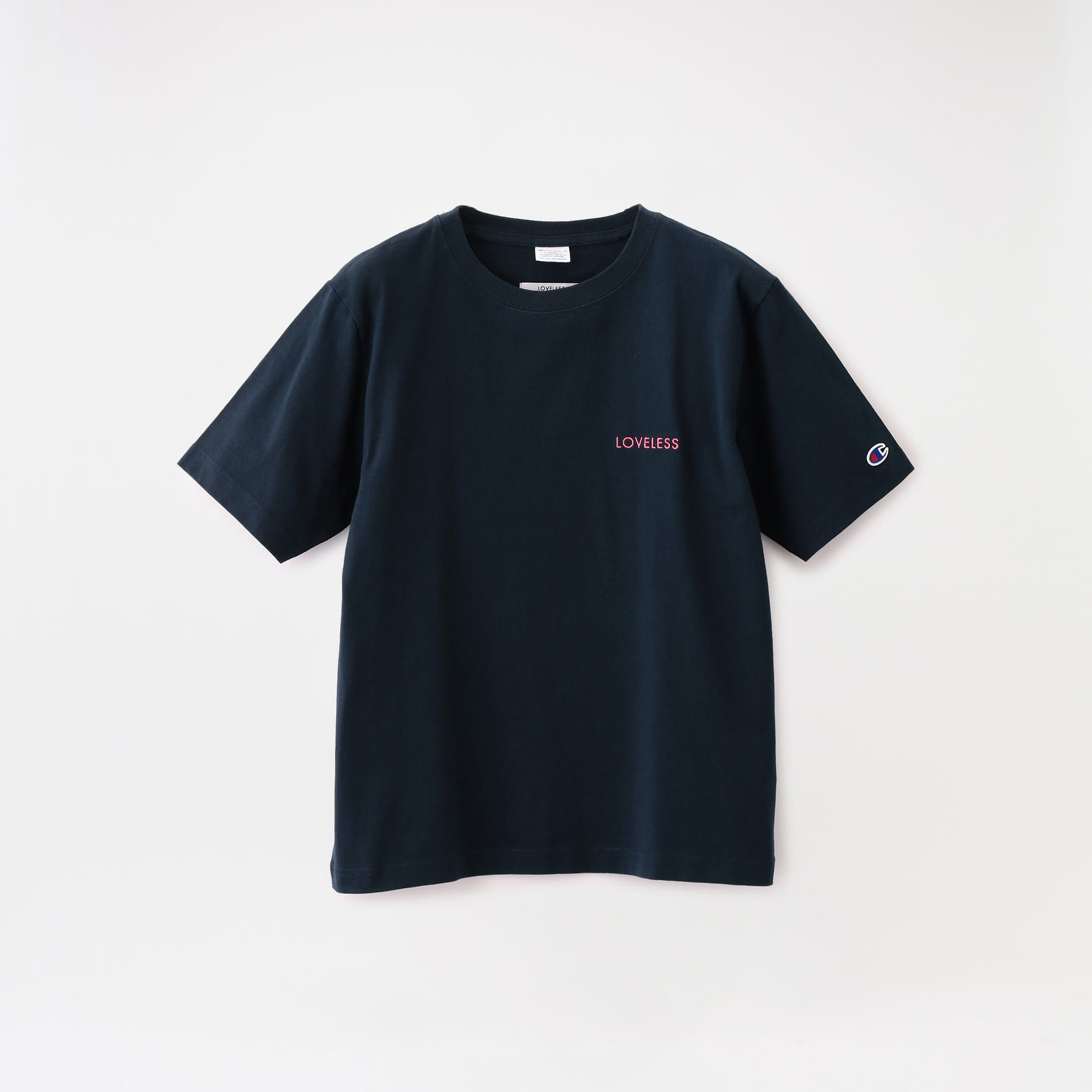 【Champion exclusive for LOVELESS】WOMEN 別注 エンブロイダリーロゴTシャツ