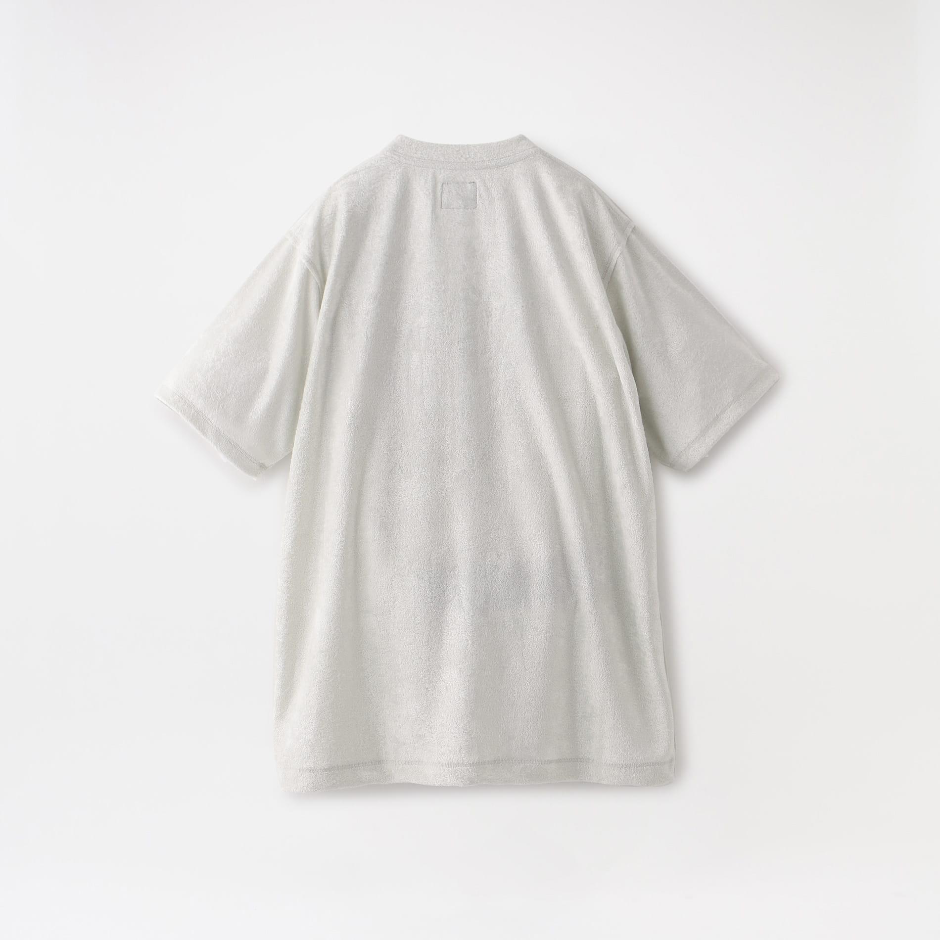 【Needles】WOMEN S/S Papillon Emb.  Pocket Tee - R/Pe Velour GL253