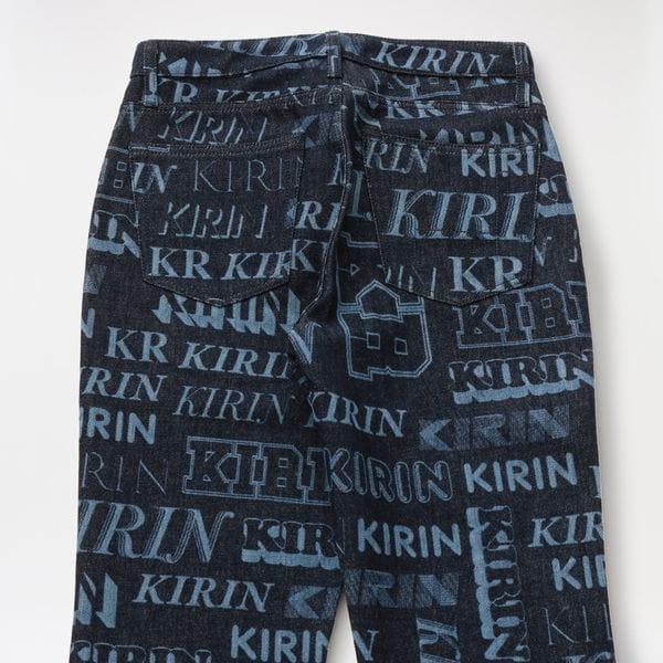 【KIRIN】WOMEN TYPO LASER RD FLARE PANTS KWYA006F20DEN0034940 KWYF20-137