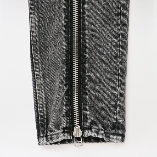 【JOHN LAWRENCE SULLIVAN】WOMEN Washed Denim Zipped Pants 2C023-0320-50