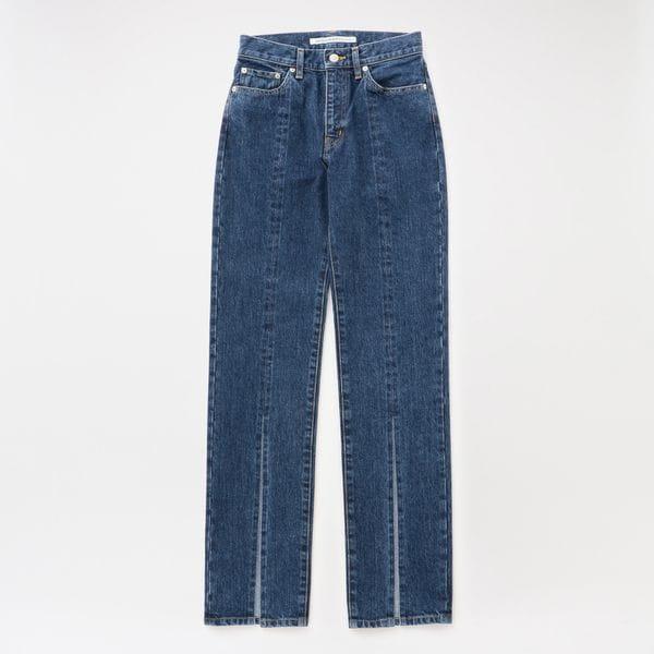 【JOHN LAWRENCE SULLIVAN】WOMEN Washed Denim Slited Pants JLSW-35
