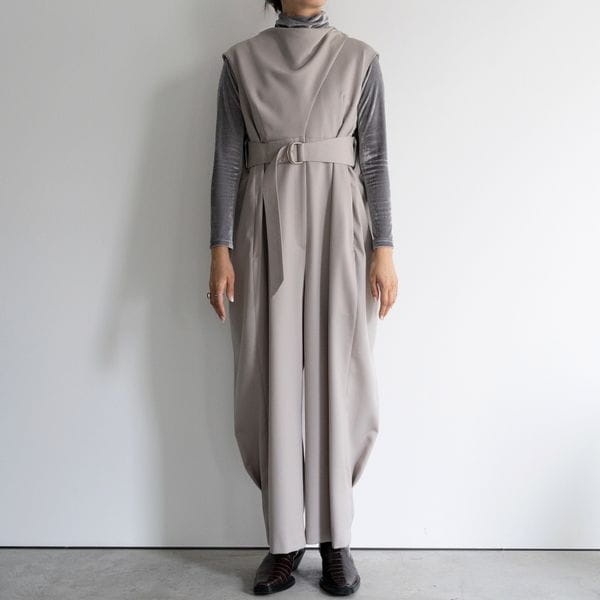 【YOHEI OHNO】WOMEN MANTLE JUMPSUIT OH-20A-DR2-A