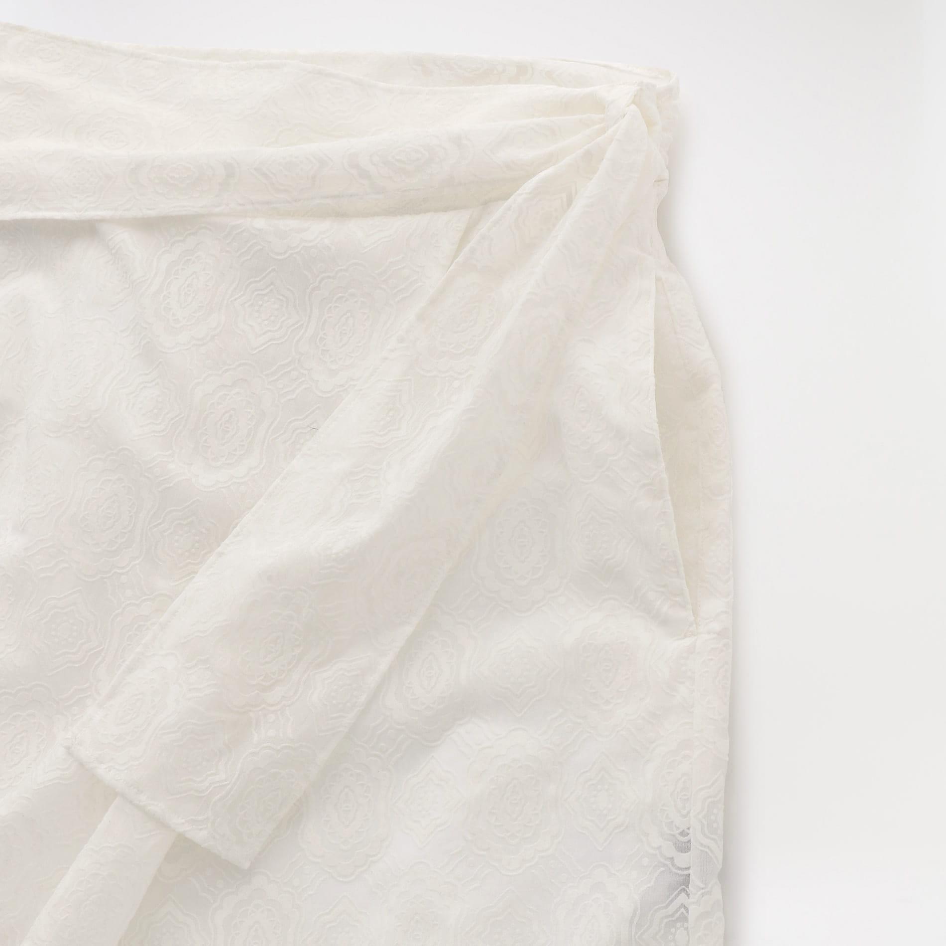 【yuumi ARIA】WOMEN ORIGINAL FLOCKY PRINT SKIRT PANTS 201-AP011
