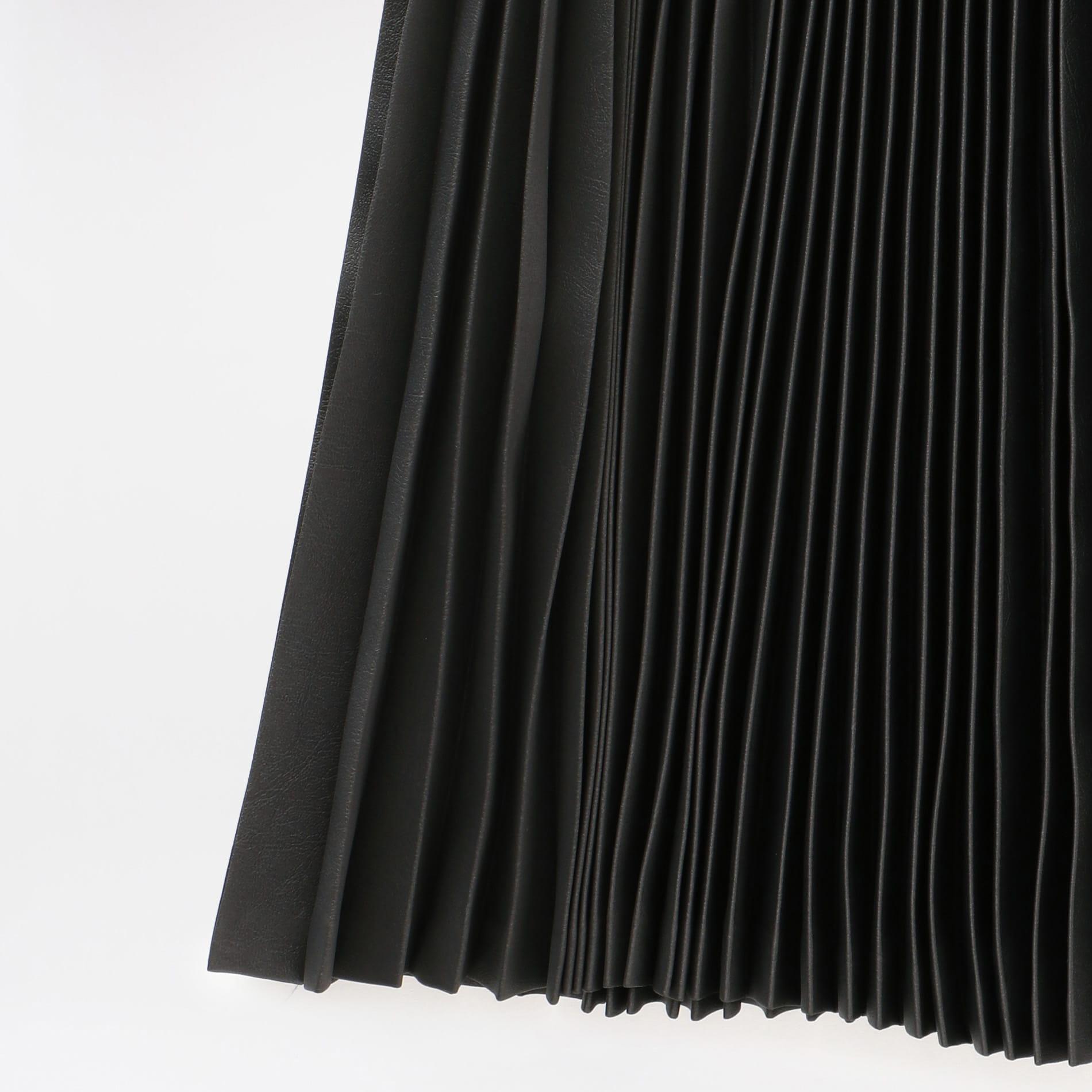 【JOHN LAWRENCE SULLIVAN】WOMEN Satin Pleated Skirt 2C026-0620-16