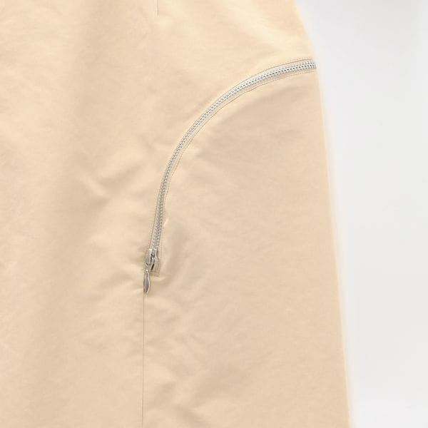 【YOHEI OHNO】WOMEN CURVED ZIP SKIRT OH-20A-SK1-B