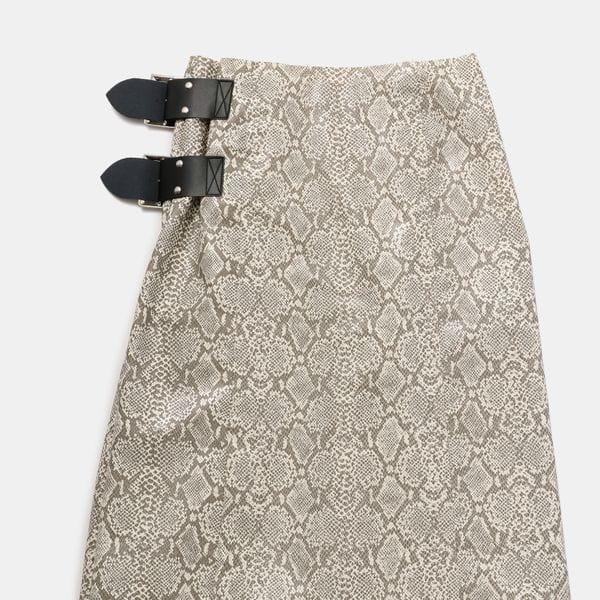 【Needles】WOMEN Wrap Skirt-Synthetic Leather GL123
