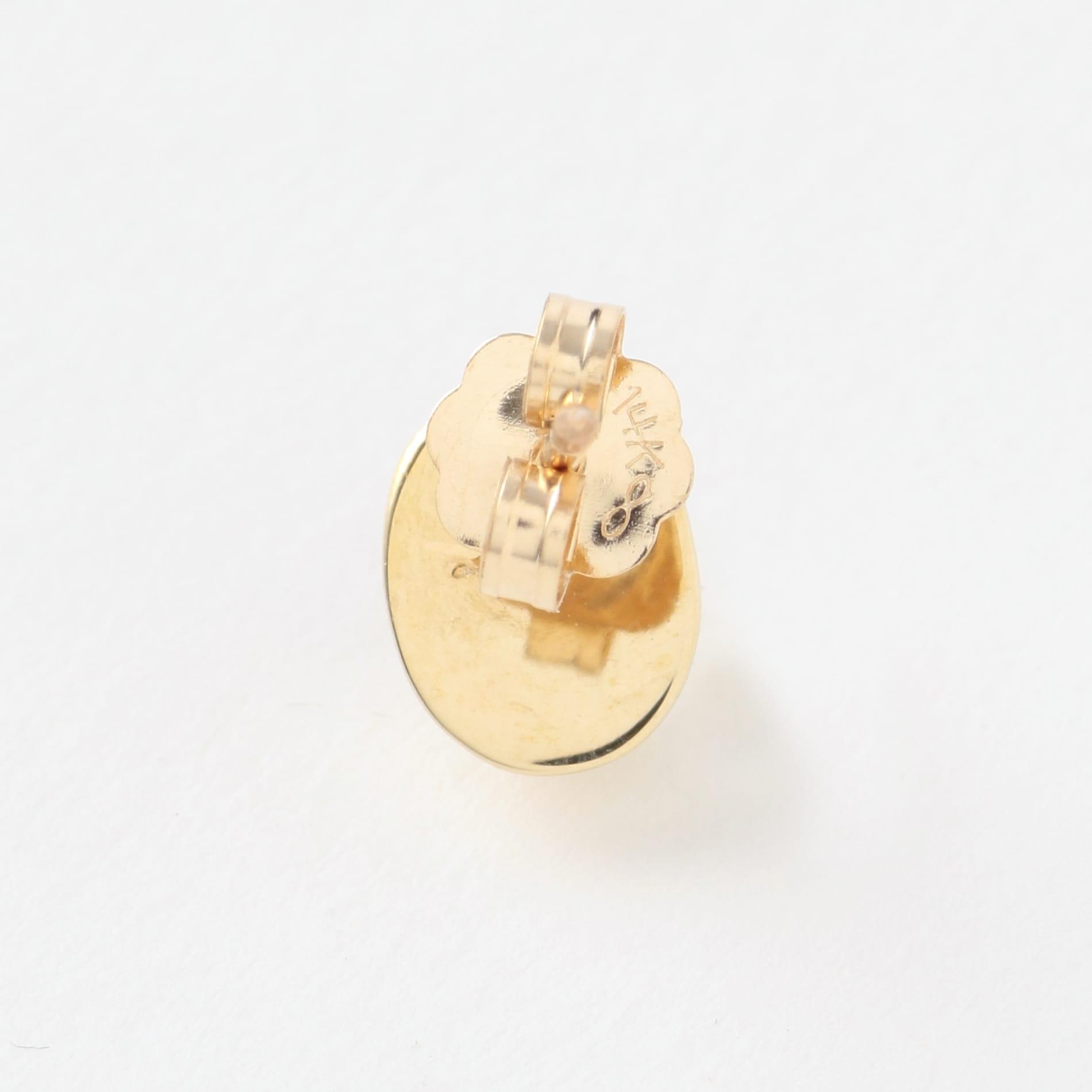 【QUARRY】WOMEN ピアス white pearl / 14K gold(single) Appo white Earring Q17E03