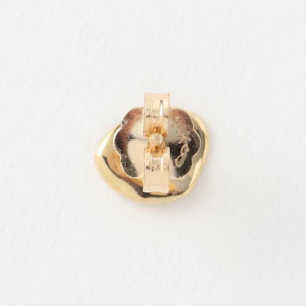 【QUARRY】WOMEN ピアス 14K gold (single) Peble Earring Q8E14