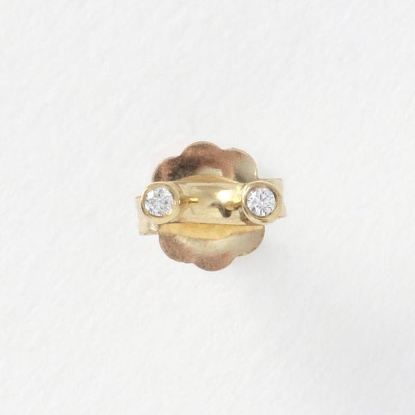 【QUARRY】WOMEN ピアス White diamond /14Kgold  (single) Gaur Earring Q13E24
