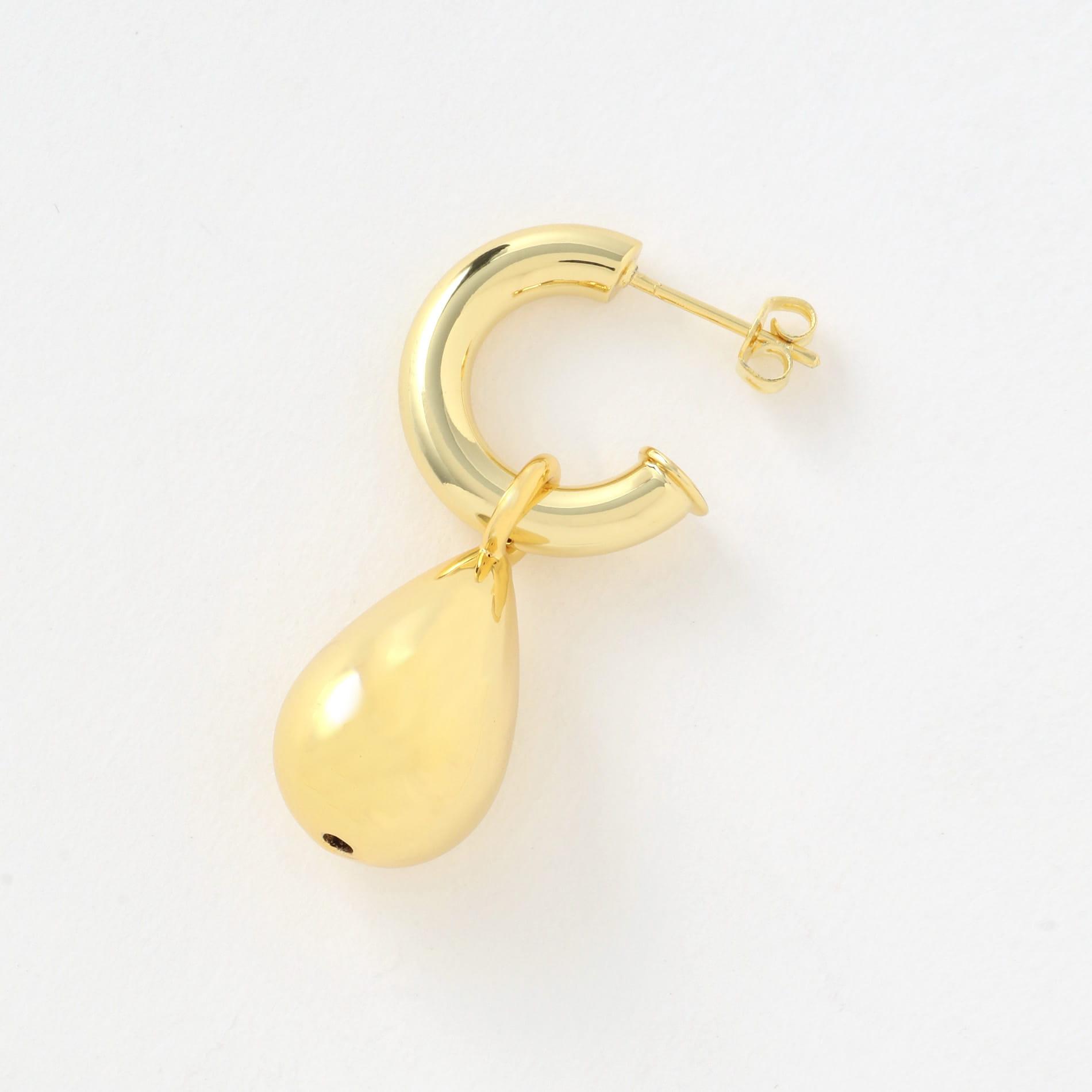 【MOYA】WOMEN ピアス ALMA HOOPEARRINGS 14CT GOLD PLATED BRASS MOYA004GP