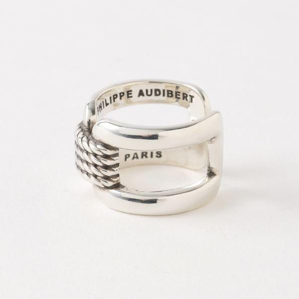 【PHILIPPE AUDIBERT】WOMEN リング Corey ring brass silver BG4600