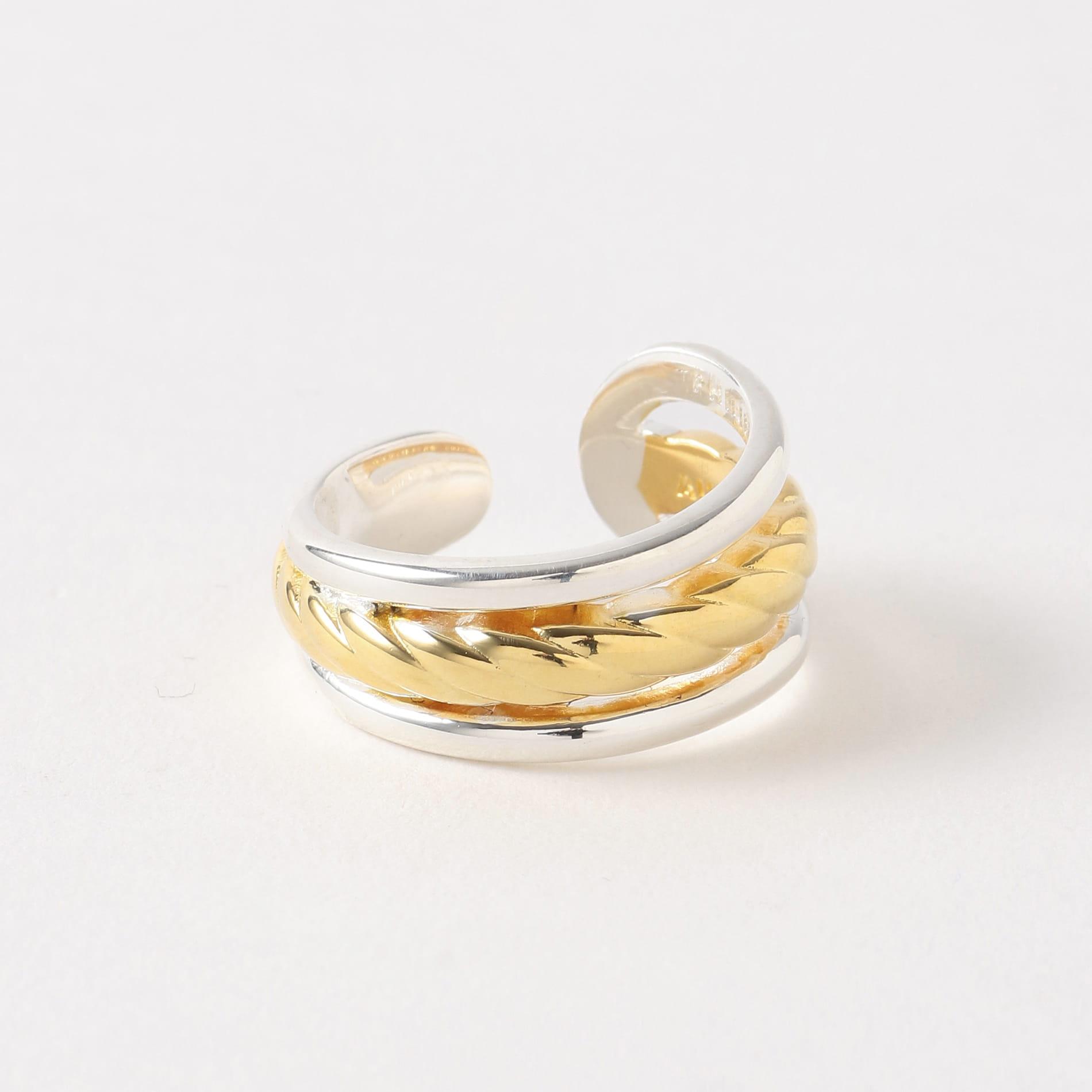 【PHILIPPE AUDIBERT】WOMEN リング inola ring brass Bicolor silver/gold BG4669