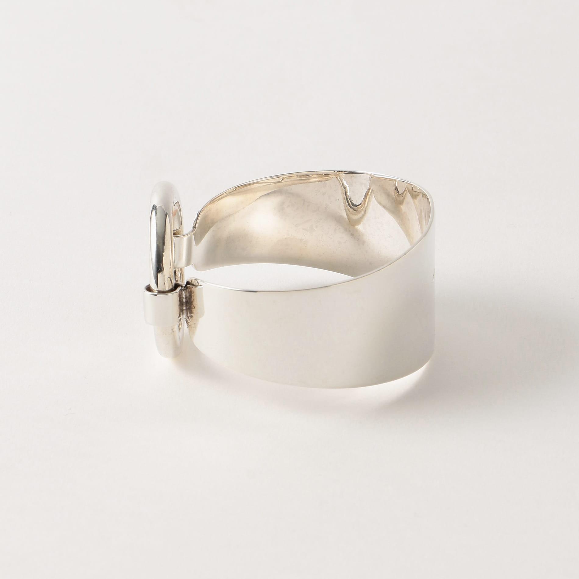【PHILIPPE AUDIBERT】WOMEN バングル Sidiner bracelet large brass silver BRS4178