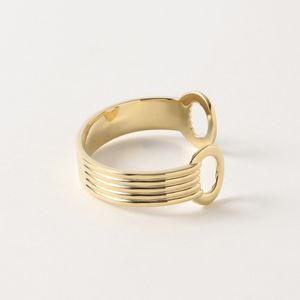 【PHILIPPE AUDIBERT】WOMEN Aler bracelet large brass Bicolor silver/gold BR4723