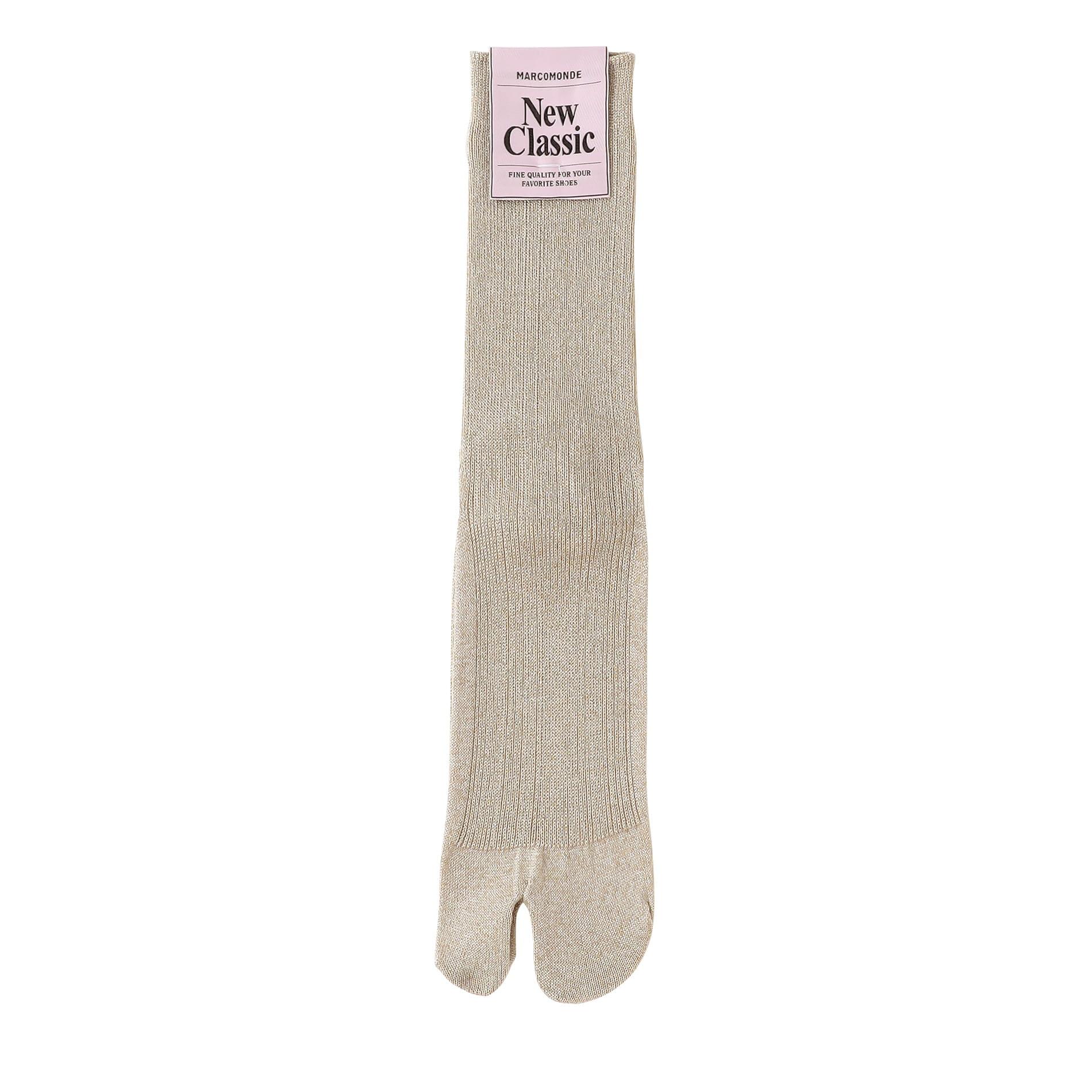 【MARCOMONDE】WOMEN ソックス glitter ribbed tabi socks 176NTB1/1GL2-20C