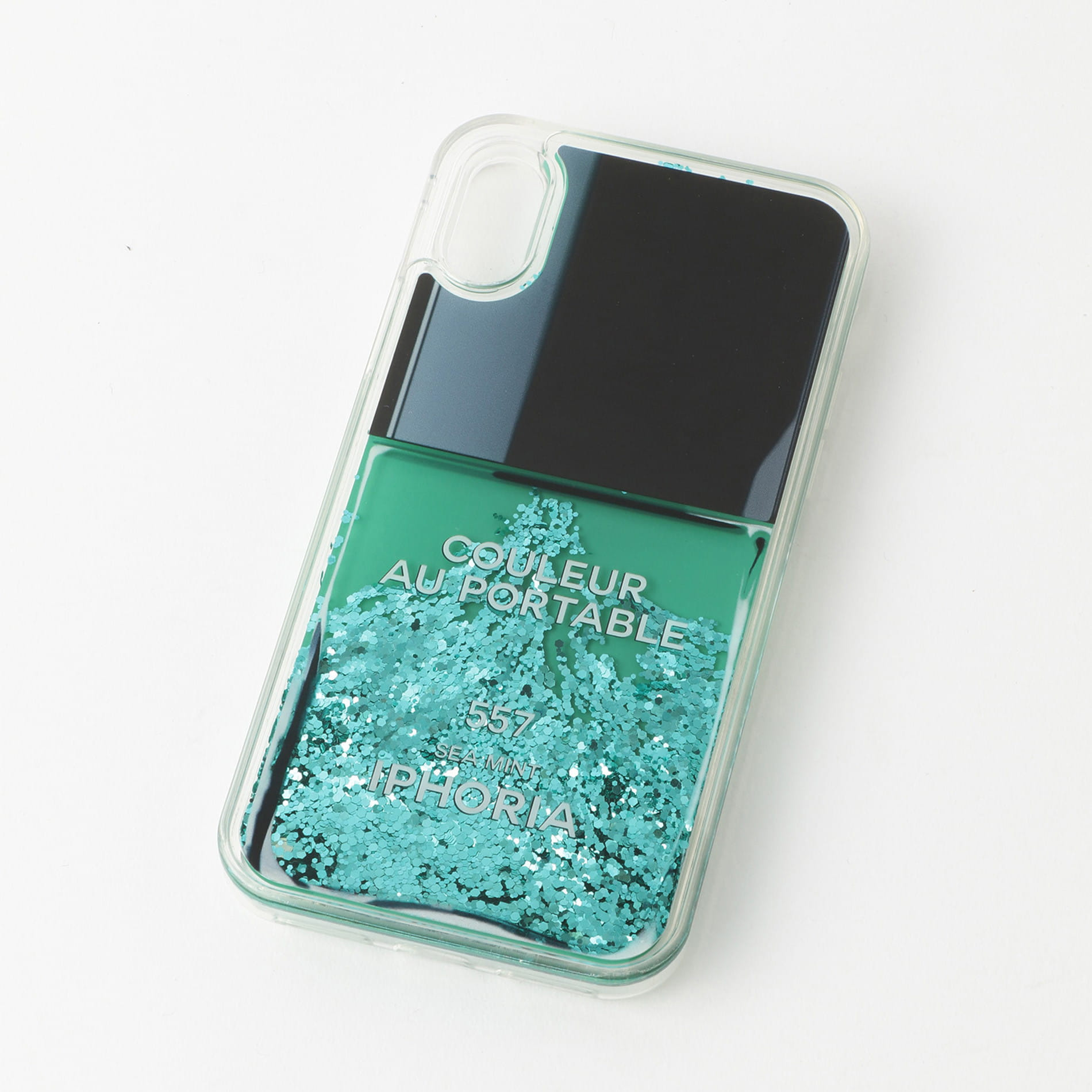 【IPHORIA】iPhoneケース(iPhoneX/XS対応)-Nail Polish Turquoise-15197
