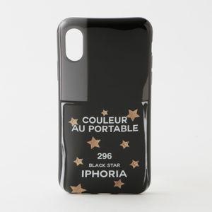 【IPHORIA】iPhoneケース(iPhoneX/XS対応)-Nailpolish Black Star-