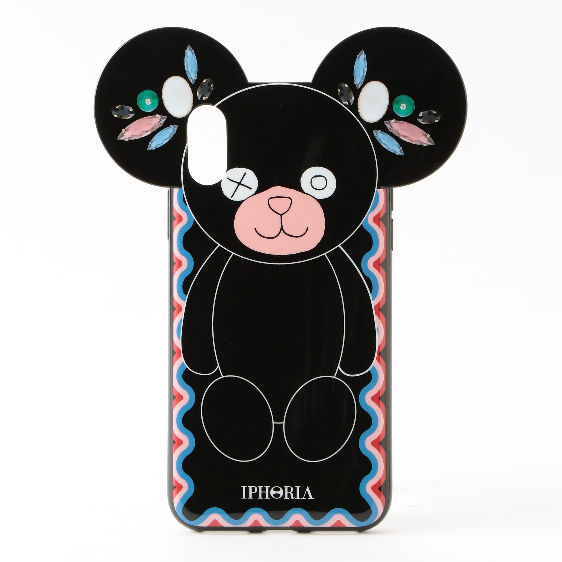 〈タイムセール〉【IPHORIA】iPhoneケース(iPhoneX/XS対応) -Teddy Black-